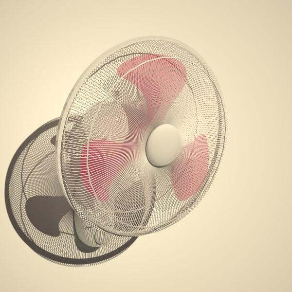 wall fan 3d max