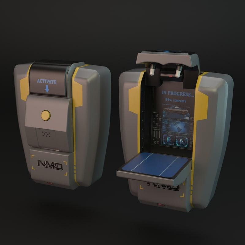 3d model sci-fi printer