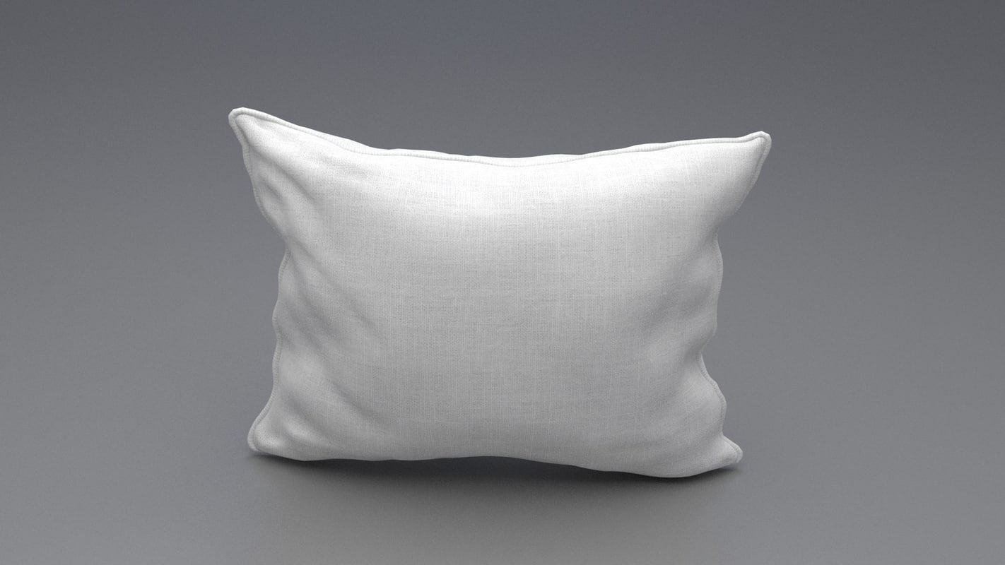 3d model piped pillow 2