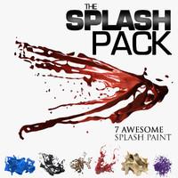 splash paint set 3d model