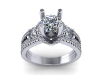 rhino diamond ring