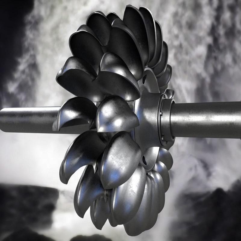 3d pelton turbine