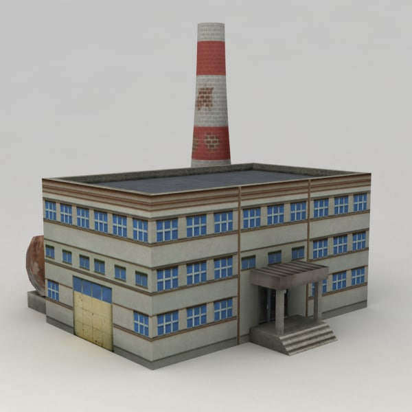 3d industrial building model