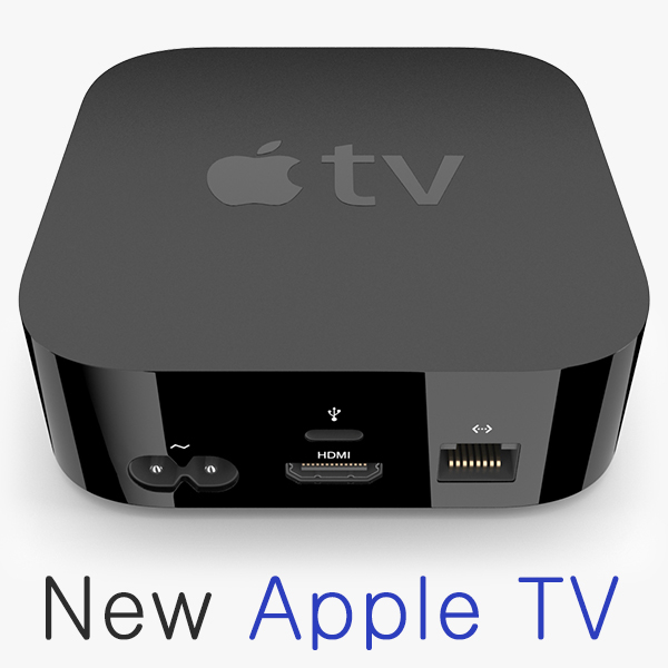 new apple tv remote 3d model