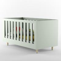 3d model flexa bed baby