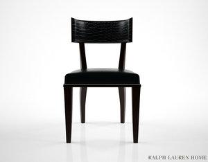 ralph lauren clivedon dining chair 3d model