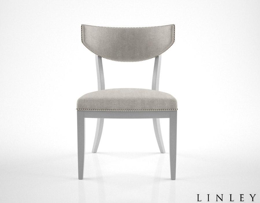 linley klismos dining chair 3d model