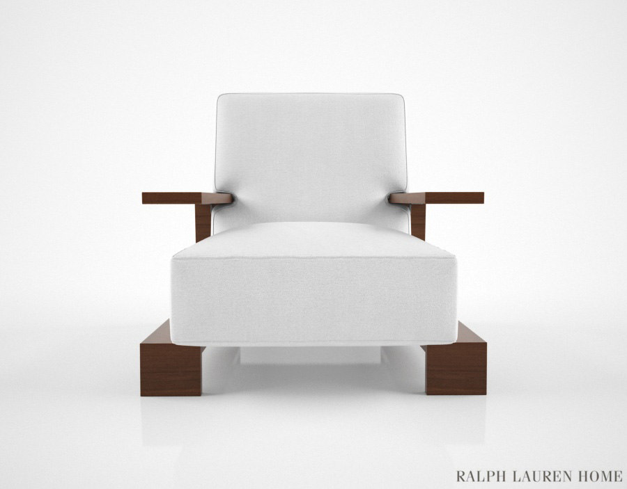 ralph lauren bryant chair 3d model