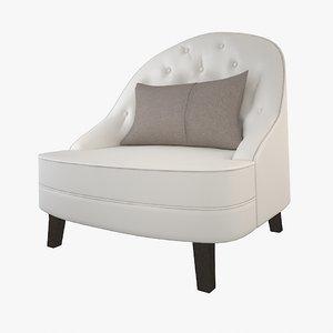 classical armchair 3d max
