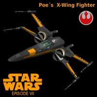 black star fighters 3d obj
