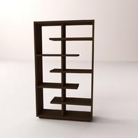 3d bookshelf v1 model