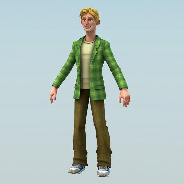 3d model man male guy