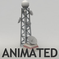 Animated radar tower