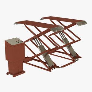 3d model automotive scissor lift generic