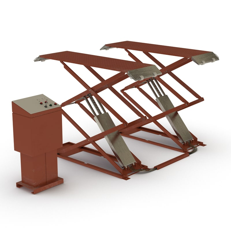 3d model automotive scissor lift generic