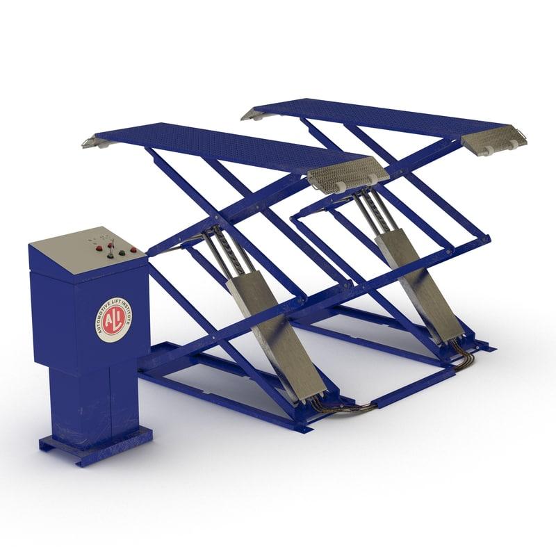 max automotive scissor lift rigged