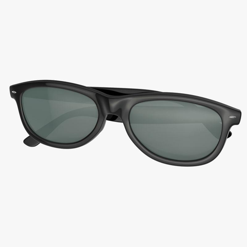 sunglasses 2 folded 3d model