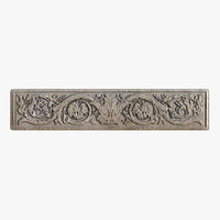 greek bas-relief flowers architecture 3d max