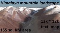 snowy mountain landscape 3d max