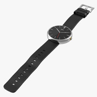 Motorola Smartwatch Moto 360 2 Silver Leather Band 3D Model