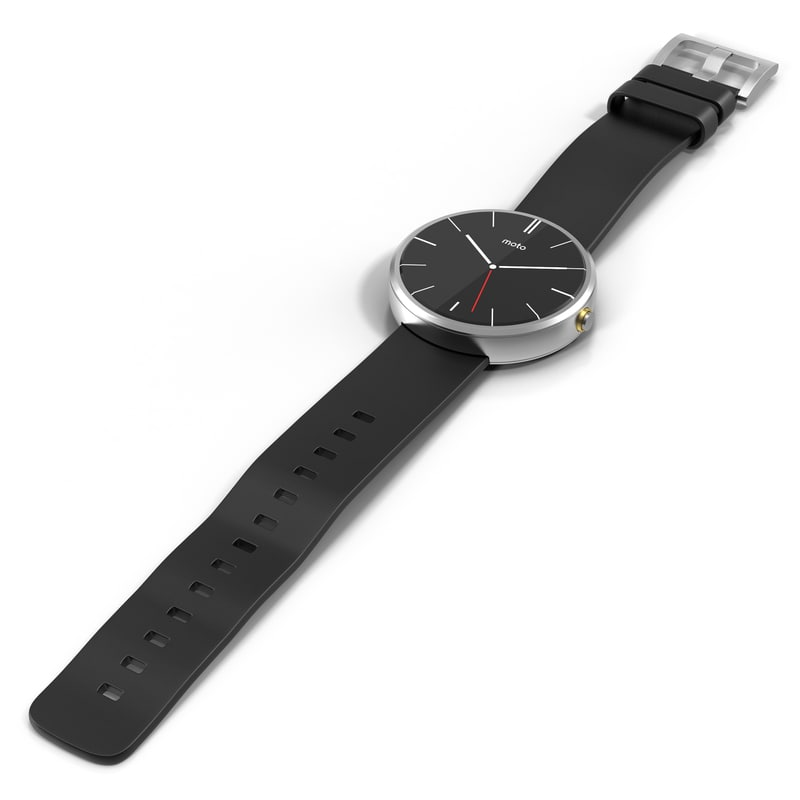 Max Motorola Smartwatch Moto 360 Smart Watch Black Leather