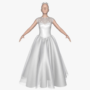 3d model dress female mannequin