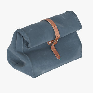 charcoal gray waxed canvas 3d c4d