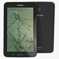 Samsung Galaxy Tab 3 Lite 7.0 Black 3D Model