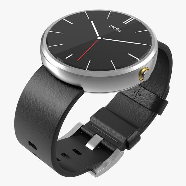 smartwatch moto 360 silver c4d