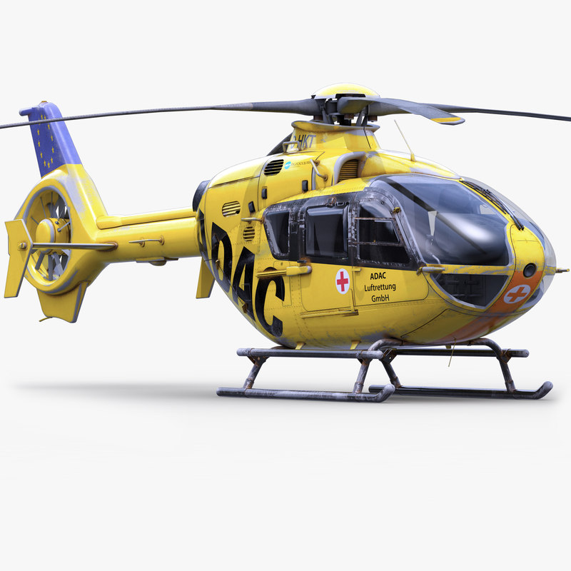 eurocopter ec 135 emergency 3d model