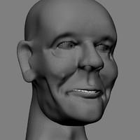 3d male head model