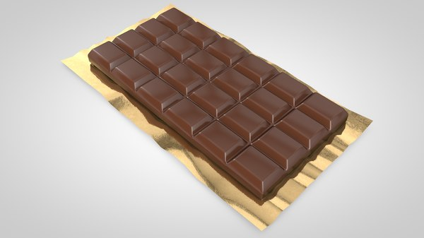 chocolate bar 3d model