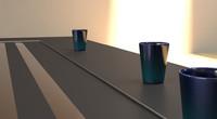 - cup blue 3d model