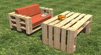 chair table pallets obj