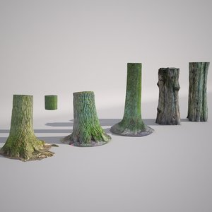 3d scan trees model