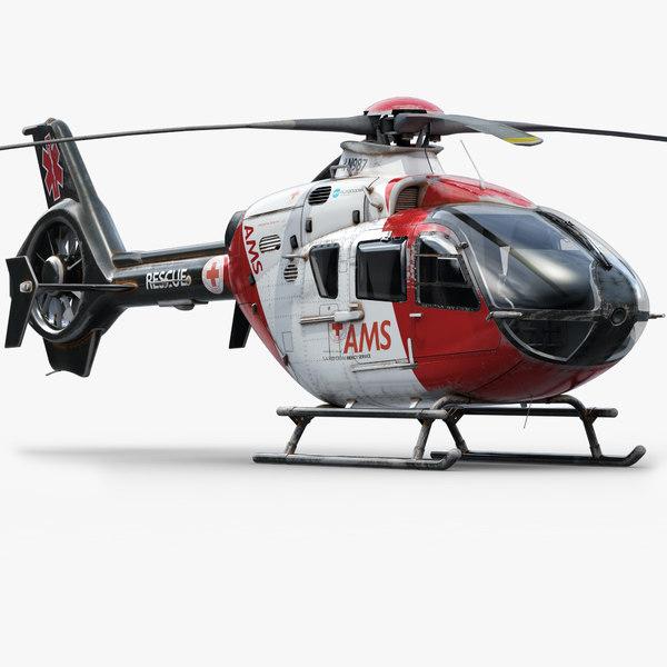 eurocopter ec 135 helicopter 3d model