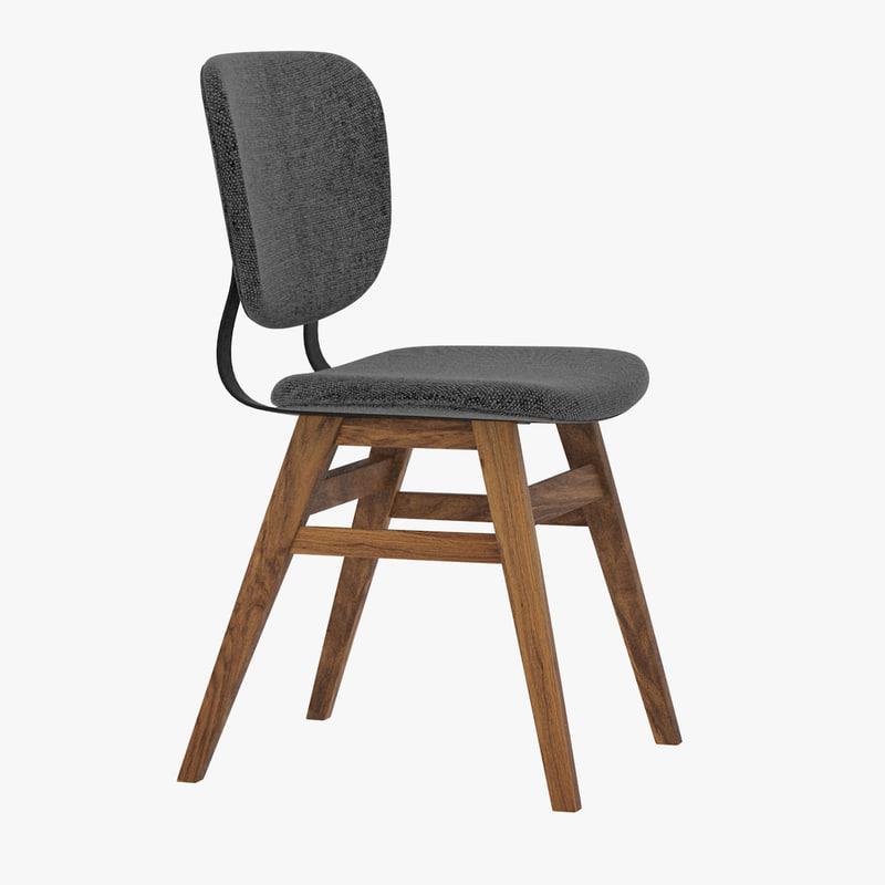 malon chair 3d 3ds