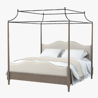 Bernhardt Auberge Poster Bed with Metal Canopy