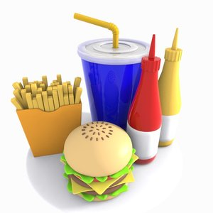 burger meal toon 3ds