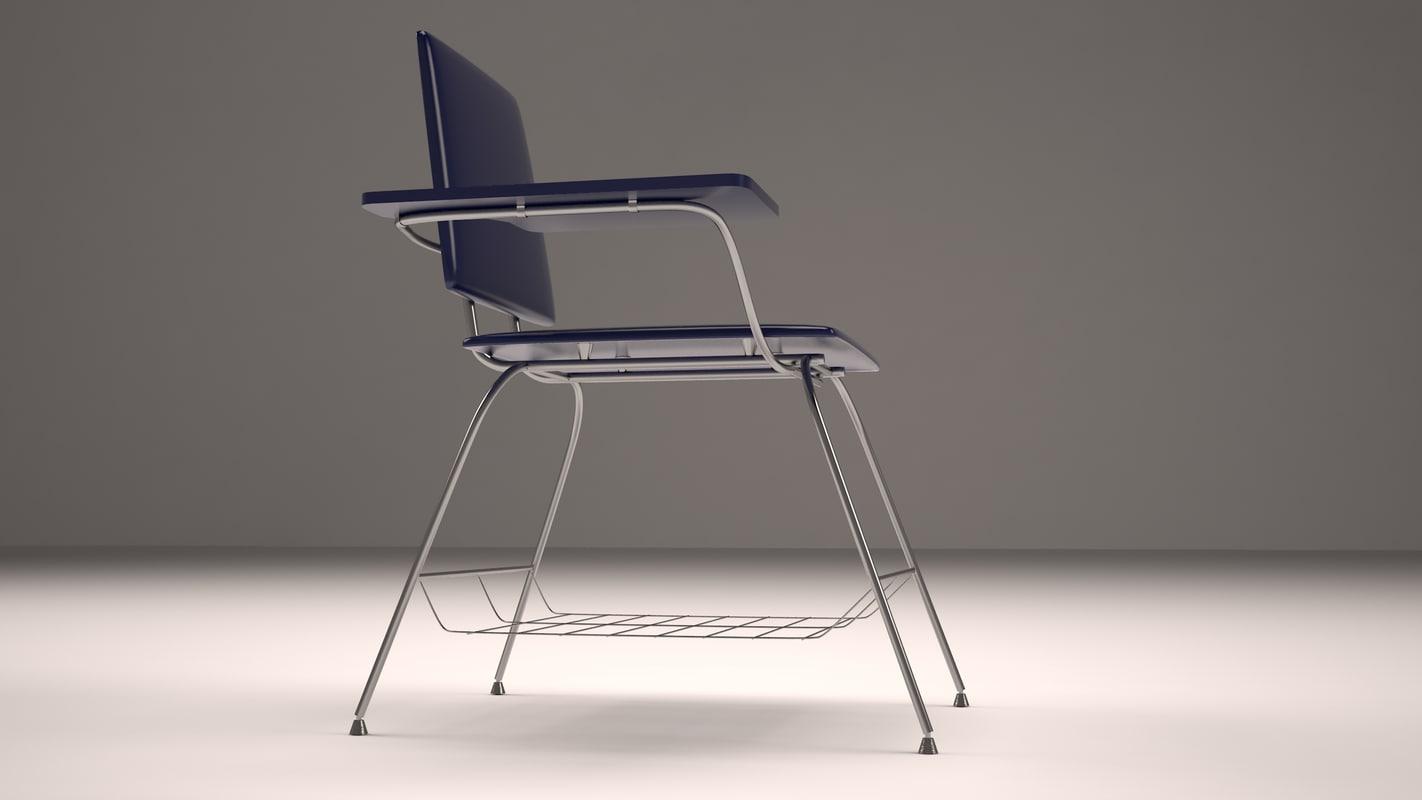 student desk school 3d max