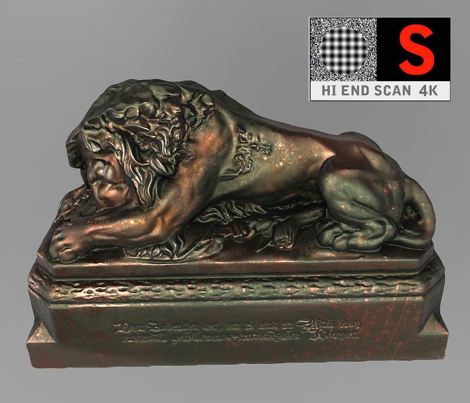 3d lion statue vienna