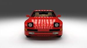 porsche 944 interior 3d model