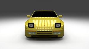3d porsche 944 convertible