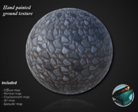 Hand painted stone ground texture