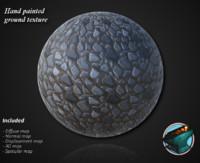 Hand painted stone ground texture
