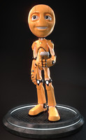 humanoid robot obj