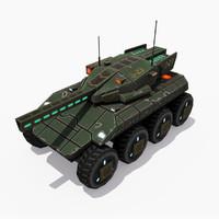 sci-fi weel tank bear obj