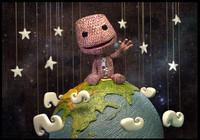 3d sackboy globe stars