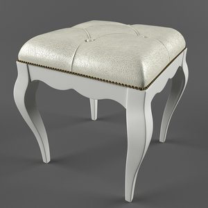3ds max stool cavio madeira art437