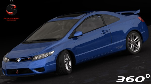 honda civic si coupe 3d max